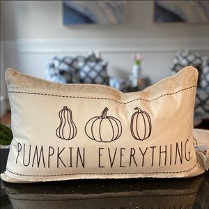 Rae Dunn PUMPKIN EVERYTHING decorative pillow